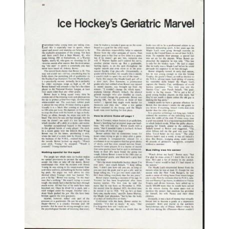 """1963 John Bower Article """"Geriatric Marvel"""""""