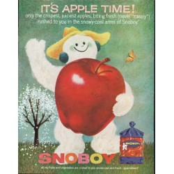 "1963 Snoboy Ad ""Apple Time"""