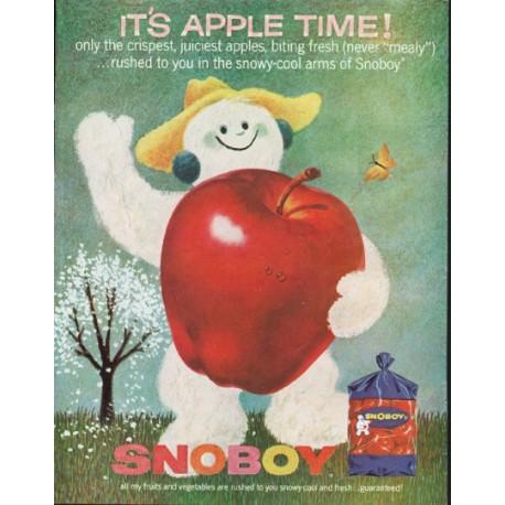 "1963 Snoboy Ad ""Apple Time"""