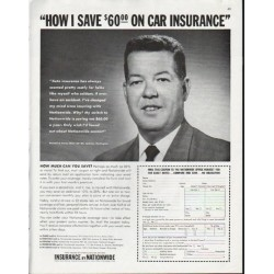 "1963 Nationwide Mutual Insurance Company Ad ""save"""