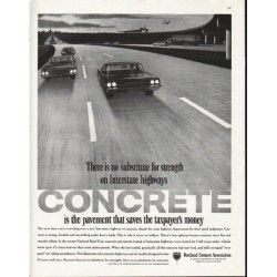 "1963 Portland Cement Association Ad ""no substitute"""