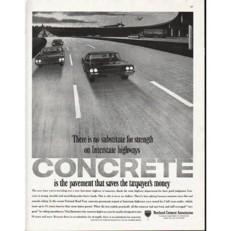 "1963 Portland Cement Association Ad ""no substitute"""