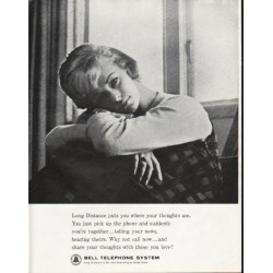 "1963 Bell Telephone System Ad ""your thoughts"""