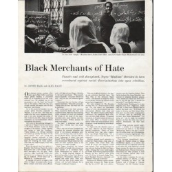"1963 Muslims Article ""Merchants of Hate"""