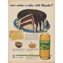 "1949 Mazola Ad ""ever make a cake with Mazola?"""