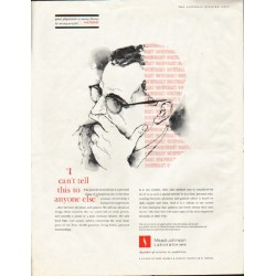 "1961 Mead Johnson Laboratories Ad ""I can't tell this"""