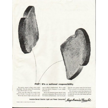 """1961 Electric Light and Power Companies Ad """"POP"""""""