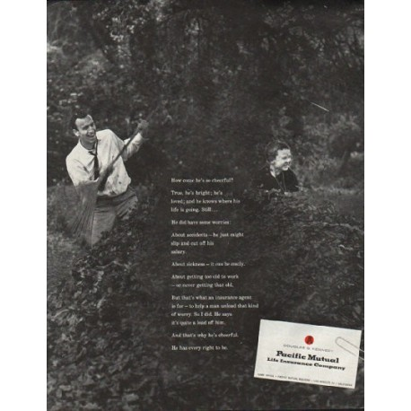 "1961 Pacific Mutual Ad ""cheerful"""