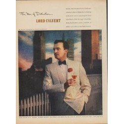 "1949 Lord Calvert Ad ""For Men of Distinction"""
