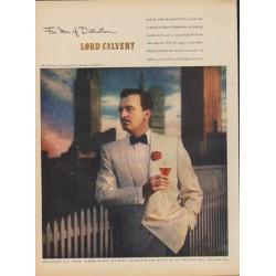 "1949 Lord Calvert Ad ""For Men of Distinction"""