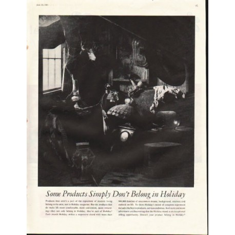 """1961 Holiday Magazine Ad """"Some Products"""""""