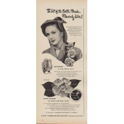 "1949 Florists' Telegraph Delivery Association Ad ""the Easter Parade"""
