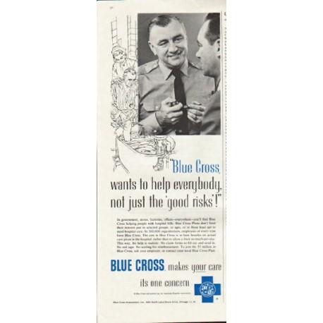"1961 Blue Cross Ad ""help everybody"""