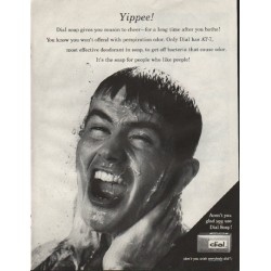 "1961 Dial Soap Ad ""Yippee"""