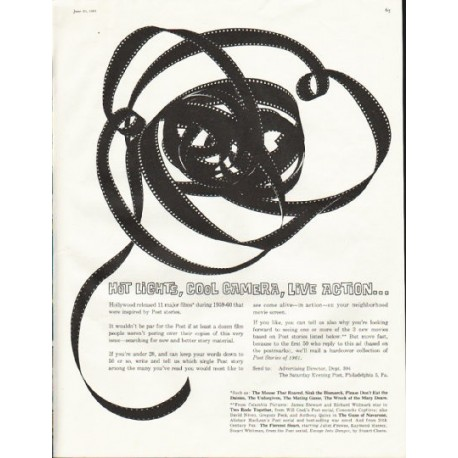 "1961 Saturday Evening Post Ad ""Hot Lights"""