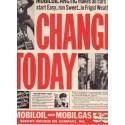 "1937 Mobiloil & Mobilgas Ad ""Change Today"""