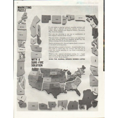 "1961 Ladies' Home Journal Ad ""Marketing Puzzle"""