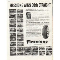 "1961 Firestone Tires Ad ""race at Indianapolis"""