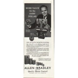 "1961 Allen-Bradley Ad ""More value"""