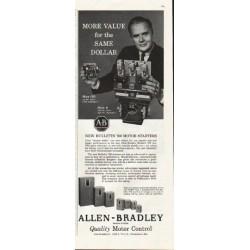 "1961 Allen-Bradley Ad ""More value"""