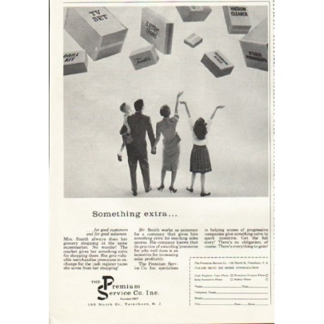 "1961 The Premium Service Company Ad ""Something extra"""