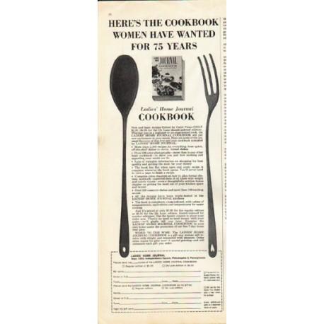 "1961 Ladies' Home Journal Cookbook Ad ""75 years"""