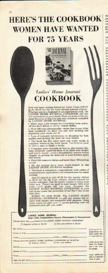 1961 Ladies Home Journal Cookbook Vintage Ad Quot 75 Years Quot