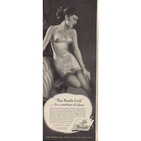 "1949 Formfit Ad ""That Formfit Look"""
