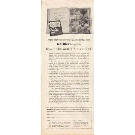 "1961 Holiday Magazine Ad ""Fine Food"""