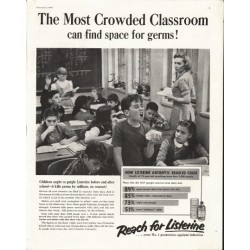 "1958 Listerine Ad ""Crowded Classroom"""