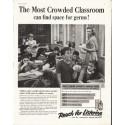 "1958 Listerine Ad ""Crowded Classroom"""