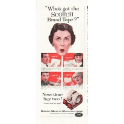 "1958 Scotch Brand Tape Ad ""Who's got"""