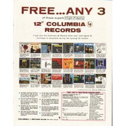 "1958 Columbia Records Ad ""Free ... Any 3"""