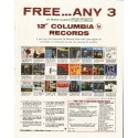 "1958 Columbia Records Ad ""Free ... Any 3"""