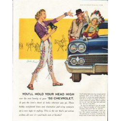 "1958 Chevrolet Bel Air Ad ""head high"" ~ (model year 1958)"