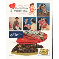"1958 Whitman's Chocolates Ad ""Something Special"""