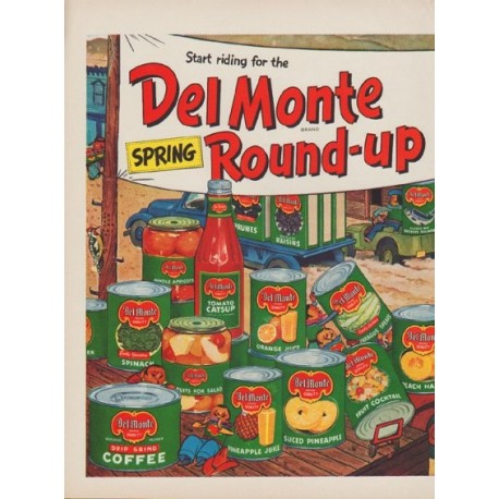 "1949 Del Monte Ad ""Spring Round-up"""