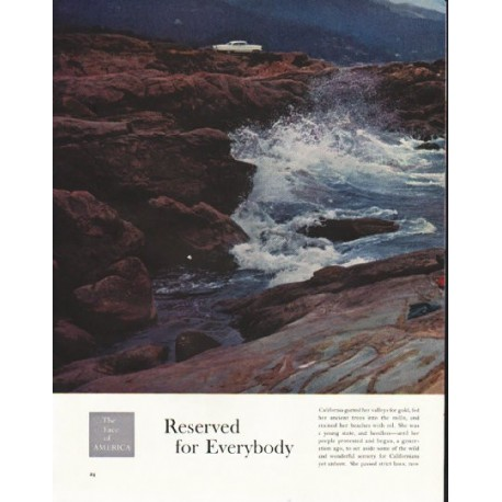 "1958 The Face of America Article ""Reserved for Everybody"""