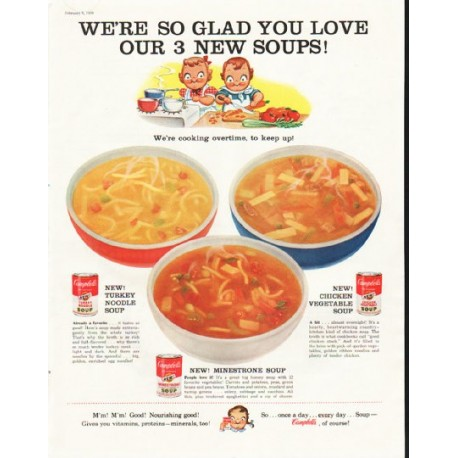 "1958 Campbell's Soup Ad ""so glad"""