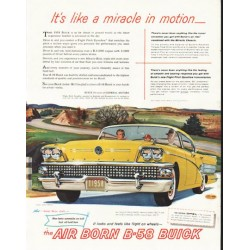"1958 Buick Ad ""like a miracle"" ~ (model year 1958)"