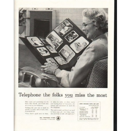 "1958 Bell Telephone System Ad ""the folks"""