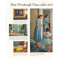 "1958 Pittsburgh Plate Glass Ad ""adds zest"""