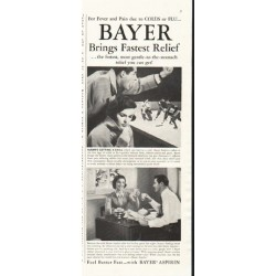"1958 Bayer Aspirin Ad ""most gentle"""