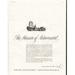 "1958 Penn Mutual Life Insurance Ad ""The Measure of Achievement"""