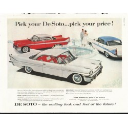 "1958 De Soto Ad ""Pick your De Soto"" ~ (model year 1958)"