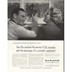 "1958 New York Life Insurance Company Ad ""Assured Accumulator"""