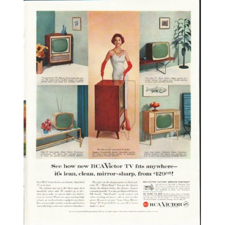 """1958 RCA Victor Ad """"See how new"""""""