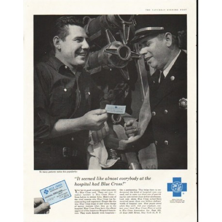 "1958 Blue Cross Ad ""almost everybody"""
