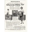 "1958 Sylvania TV Ad ""Convertible TV"""