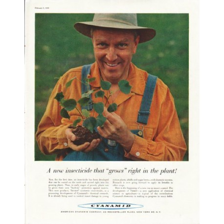 "1958 American Cyanamid Company Ad ""A new insecticide"""